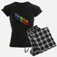Rainbow Guitar Tee Pajamas