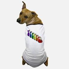 Rainbow Guitar Tee Dog T-Shirt