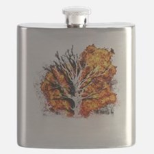 burning tree Flask