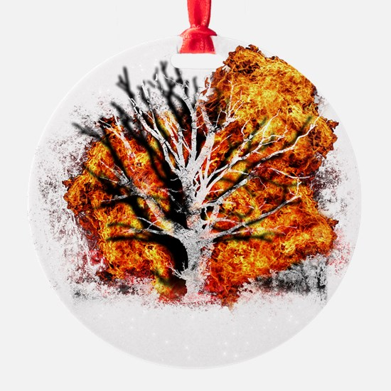 burning tree Ornament