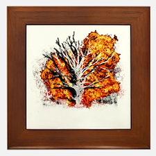 burning tree Framed Tile