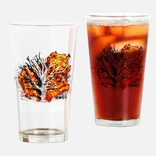burning tree Drinking Glass