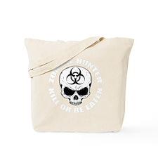 Zombie Hunter 4 white Tote Bag