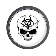 Zombie Hunter 4 white Wall Clock