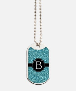 slider_monogram_damask_B_10 Dog Tags