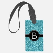 slider_monogram_damask_B_10 Luggage Tag