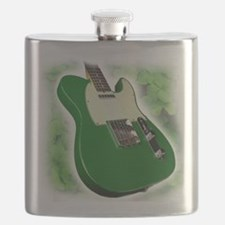 saint patricks day guitar Flask