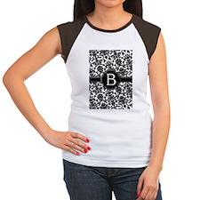 slider_monogram_damask_ Women's Cap Sleeve T-Shirt