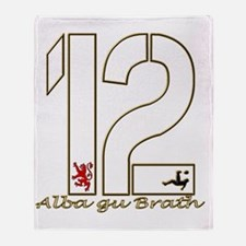 Scotland number 12 gold football alb Throw Blanket