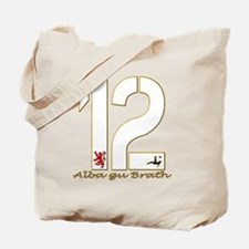 Scotland number 12 white and gold footbal Tote Bag