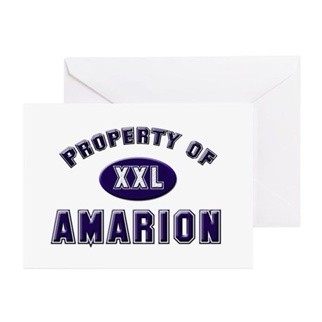 Property of amarion Greeting Cards (Pk of 10)
