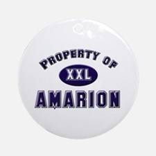 Property of amarion Ornament (Round)