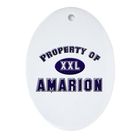 Property of amarion Oval Ornament