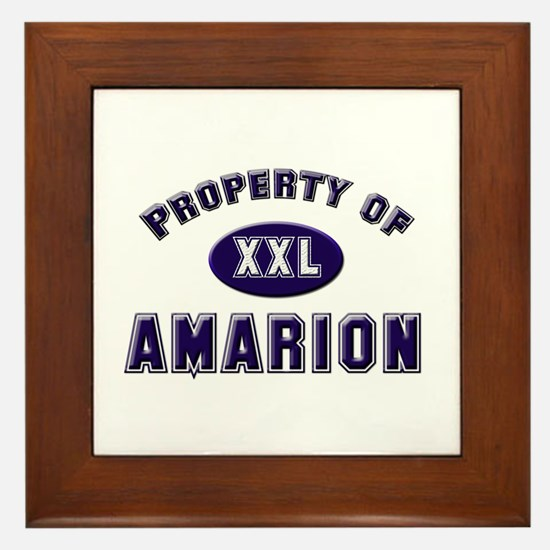 Property of amarion Framed Tile