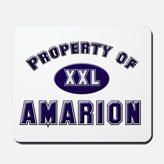Property of amarion Mousepad
