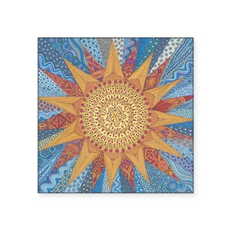 """A Quilt of Sunshine Square Sticker 3"""" x 3"""""""
