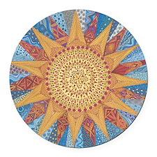 A Quilt of Sunshine Round Car Magnet