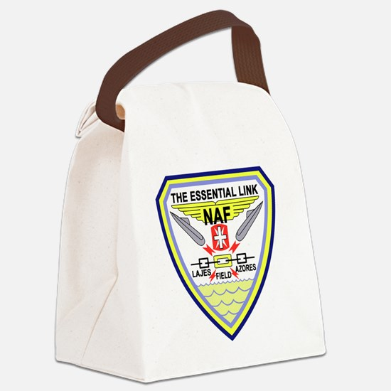 US NAVAL AIR LAJES AZORES Portuga Canvas Lunch Bag