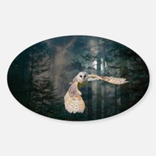 owl at midnight Decal