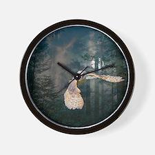 owl at midnight Wall Clock