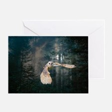 owl at midnight Greeting Card