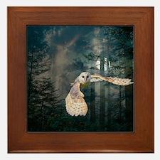 owl at midnight Framed Tile
