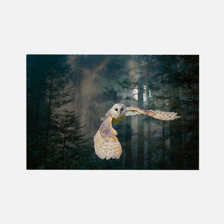 owl at midnight Rectangle Magnet
