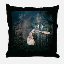 owl at midnight Throw Pillow
