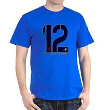 Scotland number 12 navy and gold foot T-Shirt