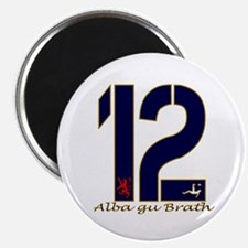 Scotland number 12 navy and gold football Magnet