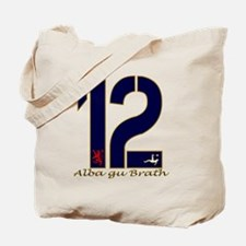 Scotland number 12 navy and gold football Tote Bag
