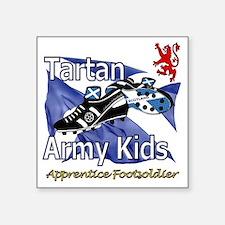 "Tartan Army Kids Scotland Square Sticker 3"" x 3"""