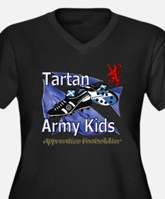 Tartan Army  Women's Plus Size Dark V-Neck T-Shirt
