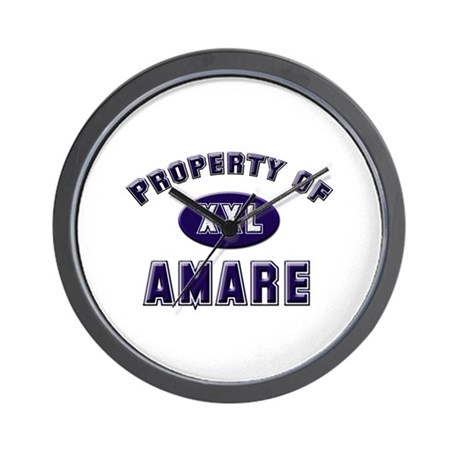 Property of amare Wall Clock