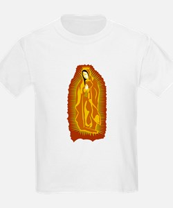 Our Lady of Guadalupe - Gold Kids T-Shirt