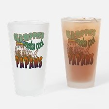 OLD HIPPIES MAKE COOL PAPAWS Drinking Glass