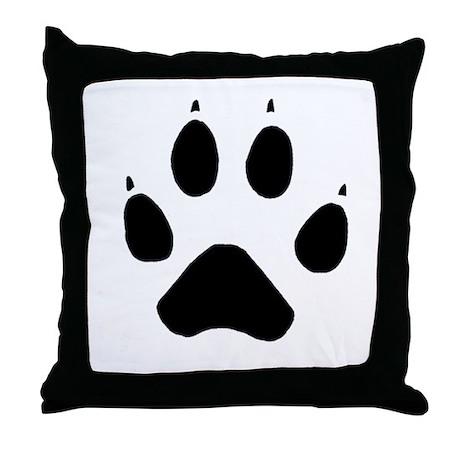 Wolf Paw Throw Pillow