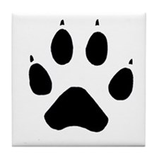 Wolf Paw Tile Coaster
