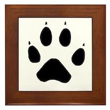 Wolf Paw Framed Tile