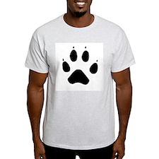 Wolf Paw Ash Grey T-Shirt