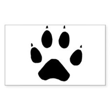 Wolf Paw Rectangle Decal