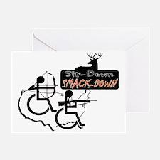 sitdownsmackdown Greeting Card