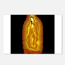 Our Lady of Guadalupe - Gold Postcards (Package of