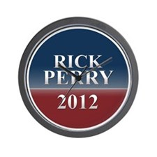 rick perry small round button Wall Clock