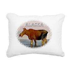Alaska - young Moose Rectangular Canvas Pillow