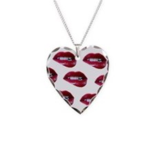 mouths Necklace Heart Charm