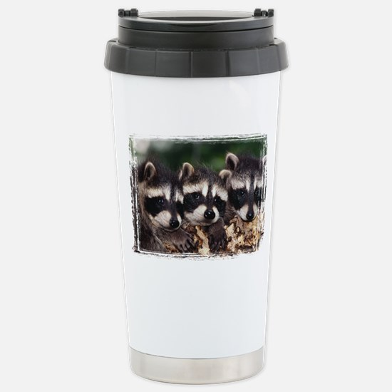 3 Raccoons Stainless Steel Travel Mug