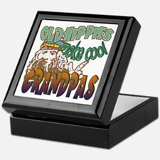 OLD HIPPIES MAKE COOL GRANDPAS Keepsake Box