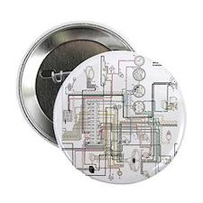 """1960 Porsche 365B Wiring Diagram Flip 2.25"""" Button"""