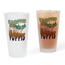 OLD HIPPIE POPPY Drinking Glass